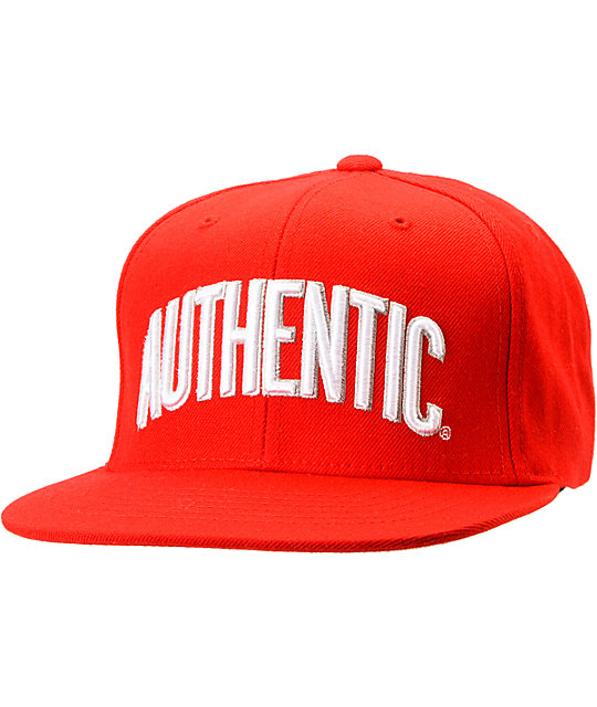 Vans Authenticity Red Starter Snapback Hat