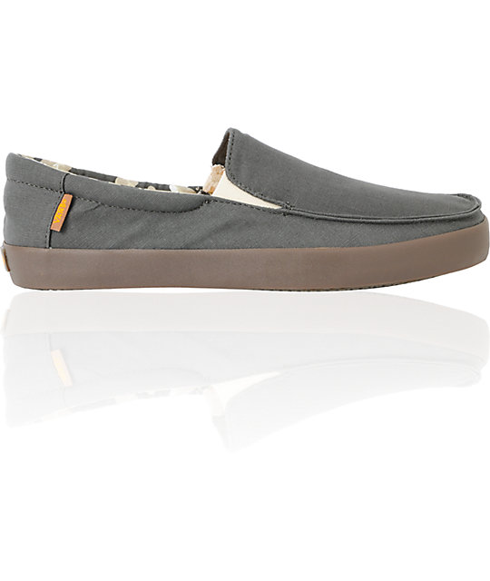 Vans Bali Charcoal & Rad Yellow Slip On Skate Shoes