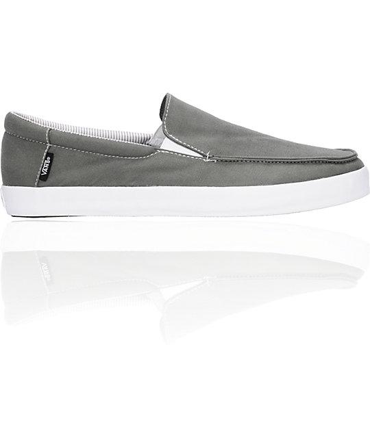 Vans Bali Charcoal Slip-On Skate Shoes