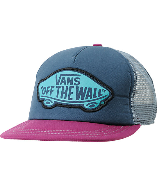 Vans Beach Girl Blue & Plum Snapback Trucker Hat