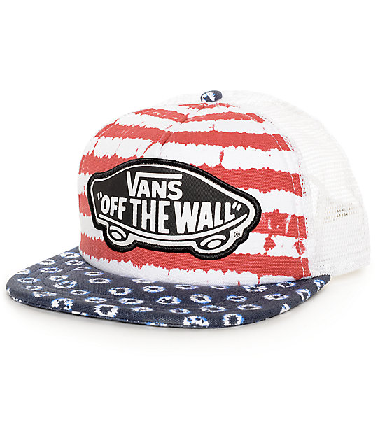 Vans Beach Girl Dyed Dots & Stripes Trucker  Hat