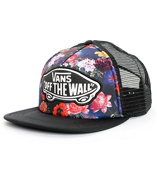 Vans Beach Girl Galaxy Floral Trucker Hat