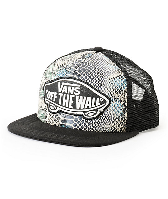 Vans Beach Girl Snake Print Trucker Hat
