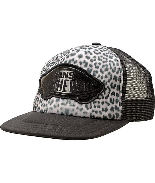 Vans Beach Girl Snow Leopard Trucker Hat