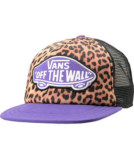 Vans Beach Leopard & Purple Trucker Hat