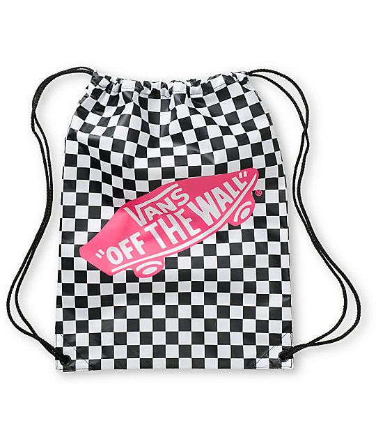 Vans Benched Checkerboard Drawstring Bag