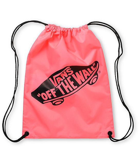 Benched Neon Pink Drawstring Bag
