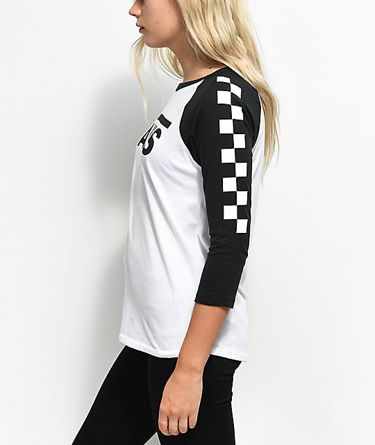 Vans Big Fun Black & White Baseball T-Shirt