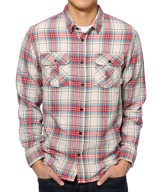 Burnside Casual Wear on sale at Full Source! Order the Burnside B Yarn-Dyed Long Sleeve Flannel Shirt - Red/Black Buffalo online or call