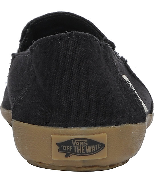 Vans Bixie Black & Rasta Hemp Shoes