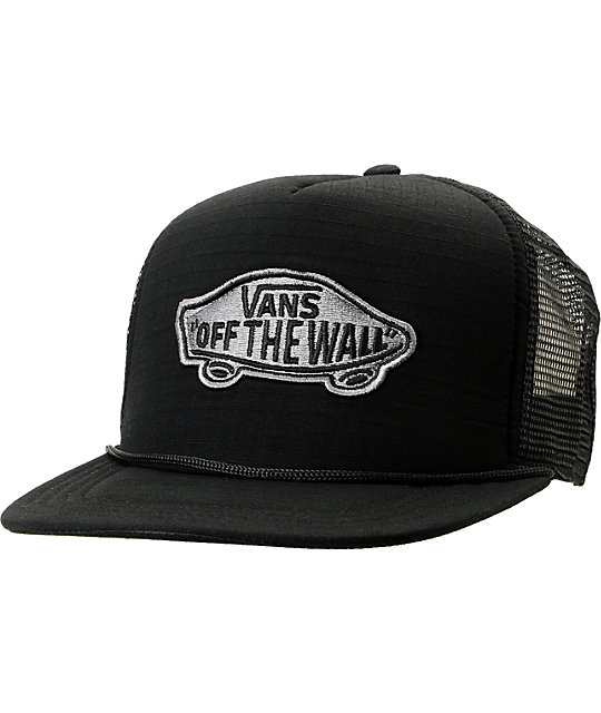 Vans Black Classic Patch Ripstop Snapback Trucker Hat