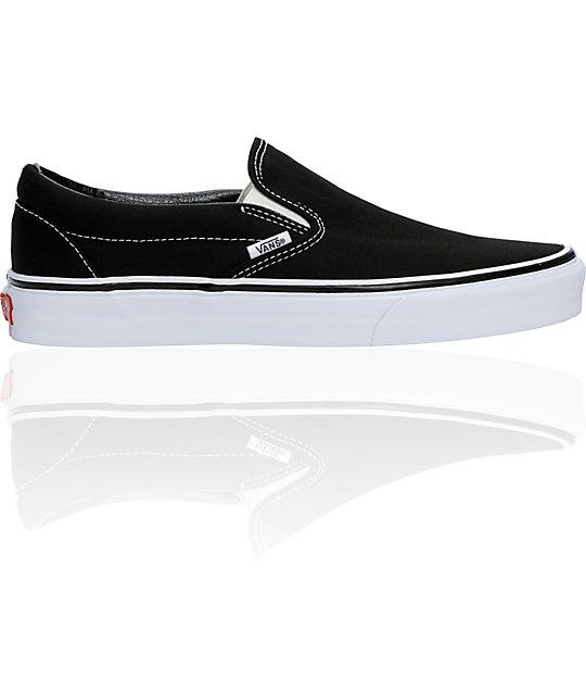vans black classic slip on skate shoes mens at zumiez pdp
