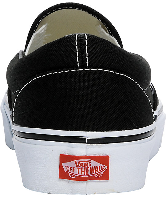 Vans Black Classic Slip-On Skate Shoes