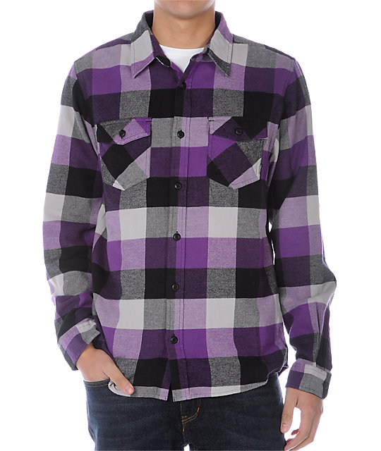 Vans Box Purple Flannel Shirt