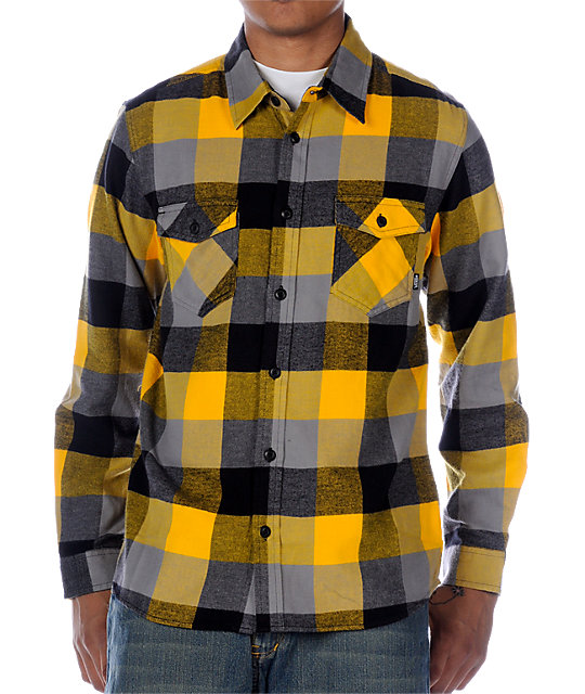 Vans Box Yellow Long Sleeve Flannel Shirt