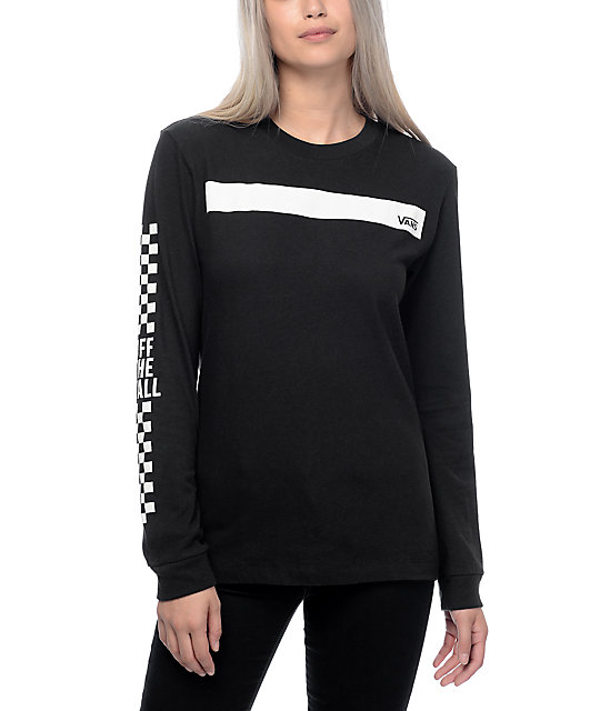 Vans boxed in black long sleeve t shirt zumiez for What is a long sleeve t shirt