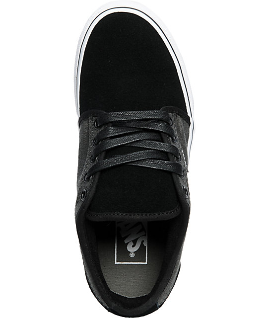 Vans Boys Chukka Low Black & Charcoal Skate Shoes