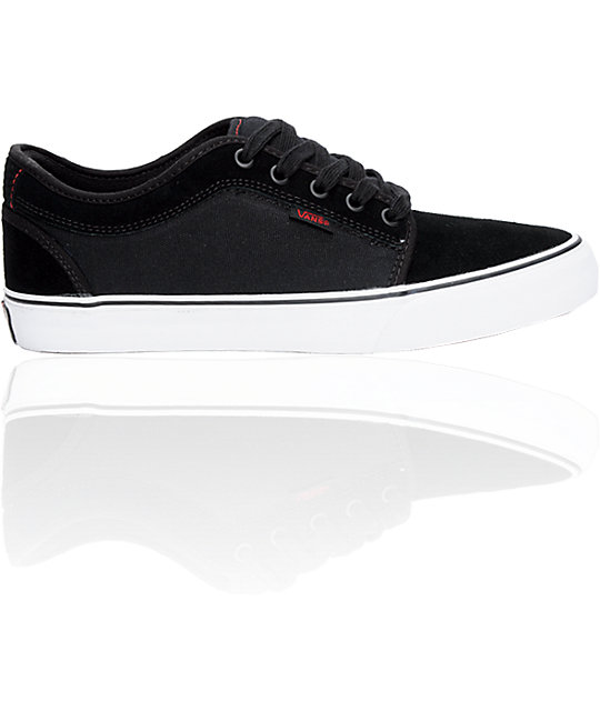 Vans Boys Chukka Low Black & Red Shoes