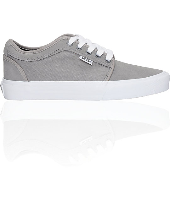 Vans Boys Chukka Low Grey & White Shoes