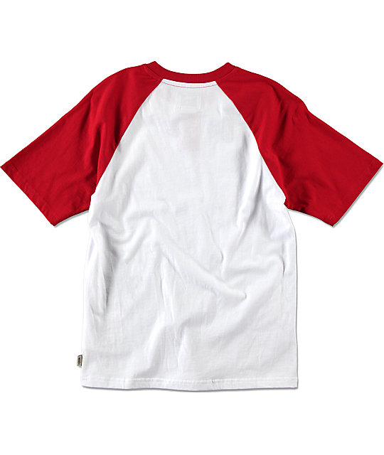 Vans Boys Holder Street Red & White Henley Shirt