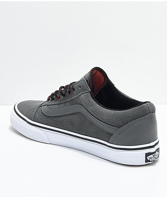 Vans Boys Old Skool Gunmetal Grey Skate Shoes