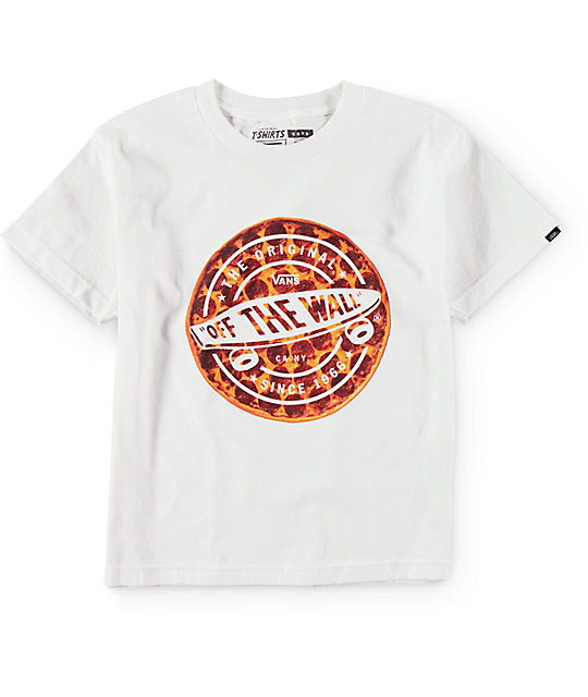 Vans Boys Originator Pizza White T-Shirt