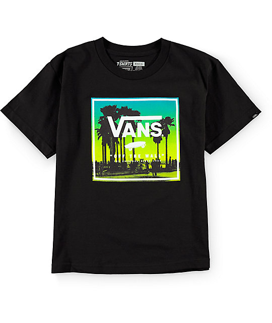 vans boys palms boxed black t shirt zumiez. Black Bedroom Furniture Sets. Home Design Ideas
