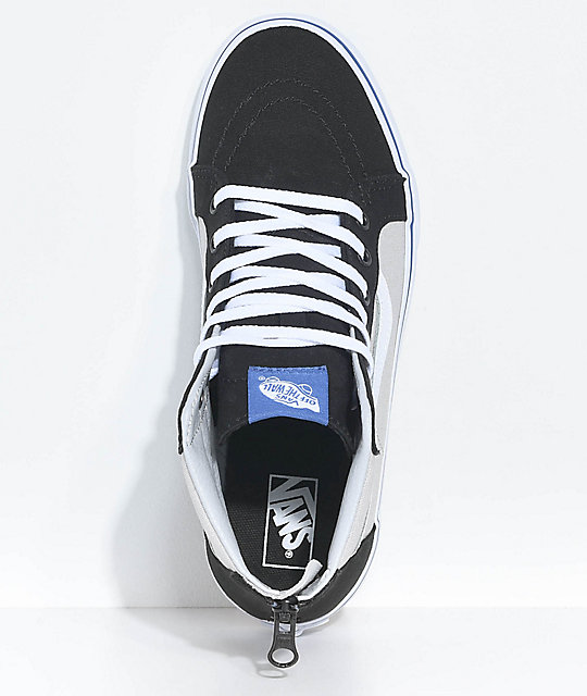 Vans Boys Sk8-Hi Black & Micro Chip Zippered Skate Shoes