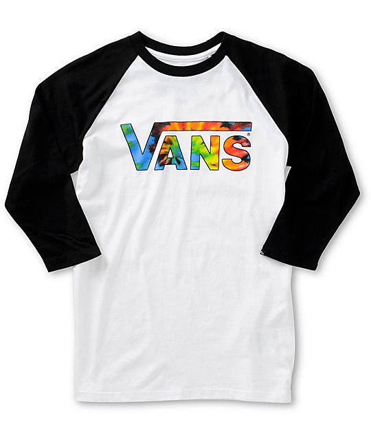 vans boys tie dye baseball t shirt zumiez. Black Bedroom Furniture Sets. Home Design Ideas
