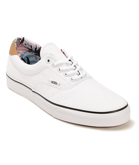 vans era white shoes