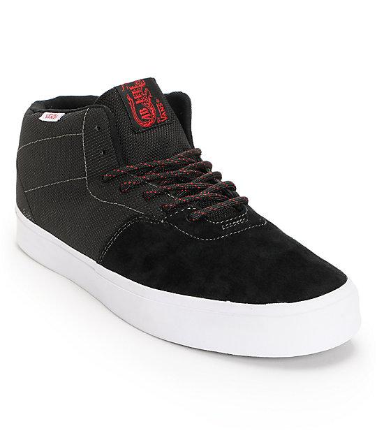 Vans Cab Lite Black & Scarlet Red Skate Shoes (Mens)