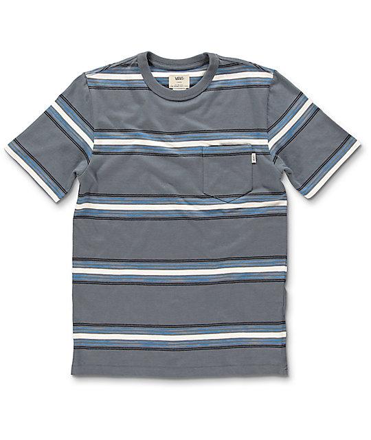 Vans causeway camiseta en color plomo para ni os for Color plomo