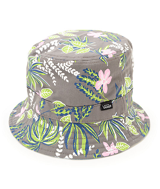 Vans Caytie Grey Floral Reversible Bucket Hat