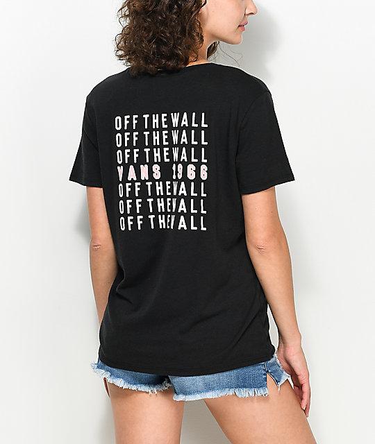 Vans Cells Bells Black Boyfriend T-Shirt
