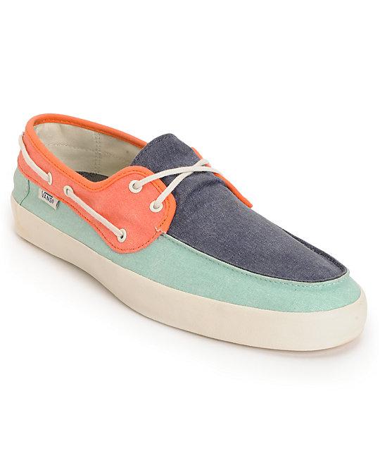 Vans Chauffeur 80s Tri Tone Boat Skate Shoes (Mens)