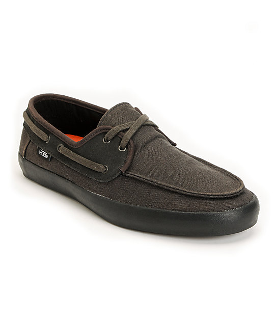 Vans Chauffeur Black Boat Skate Shoes (Mens)