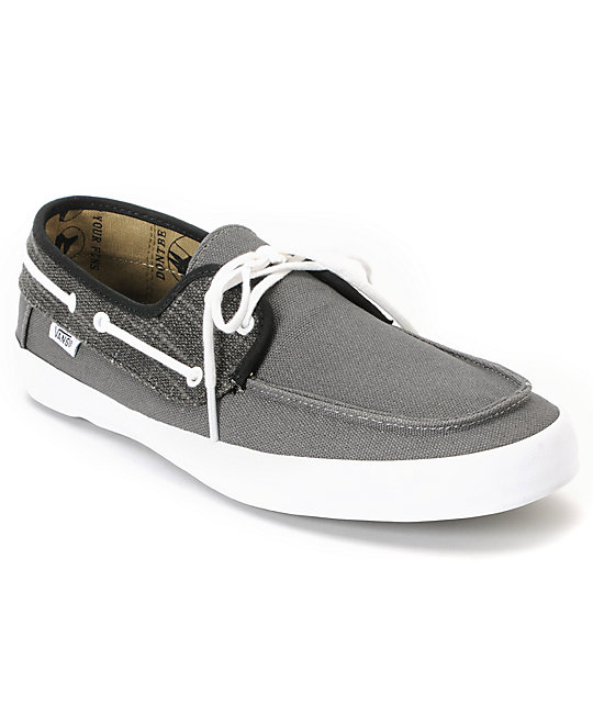 Vans Chauffeur Pewter & Black Boat Skate Shoes (Mens)