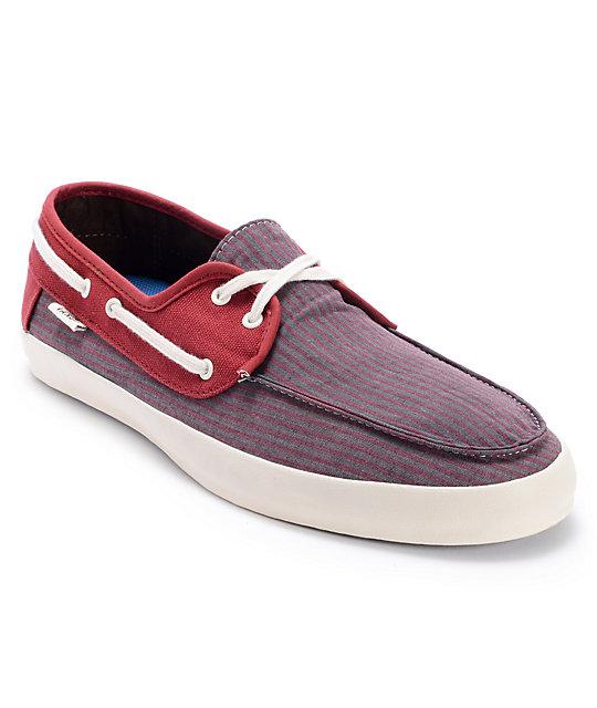 Vans Chauffeur Striped Russet Brown Boat Skate Shoes (Mens)