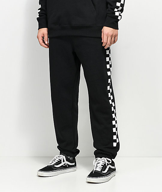 Vans Check Black & White Sweatpants