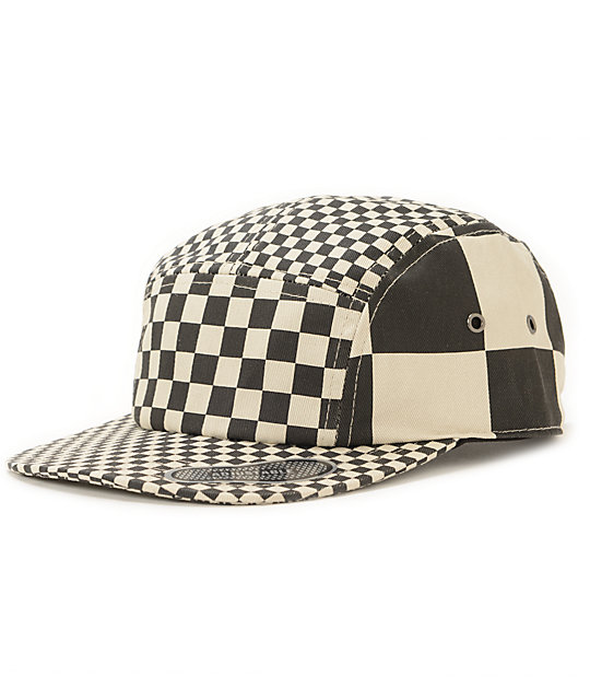 Vans Check It Black & White Checkered 5 Panel Hat