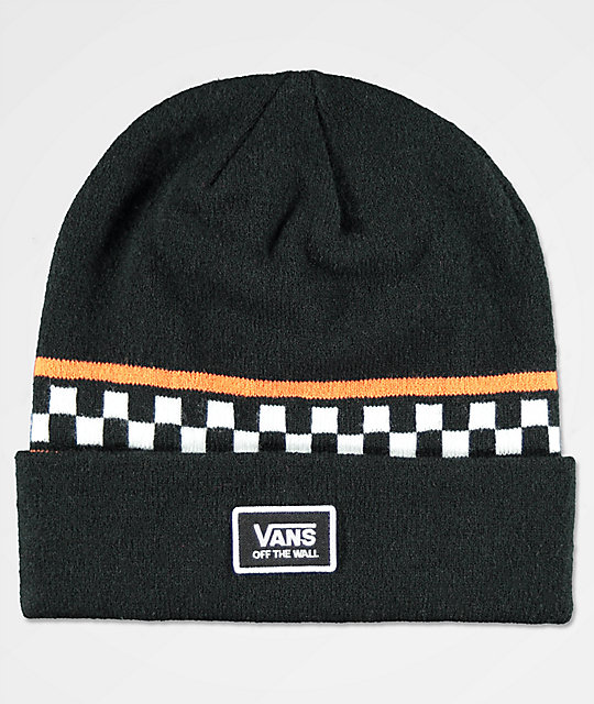 Vans Checker Black & Orange Beanie