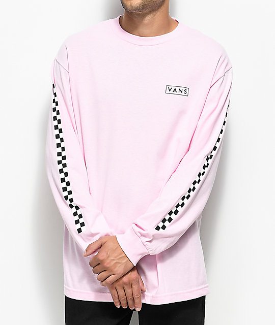 Vans Checkmate Pink & White Long Sleeve T-Shirt | Zumiez
