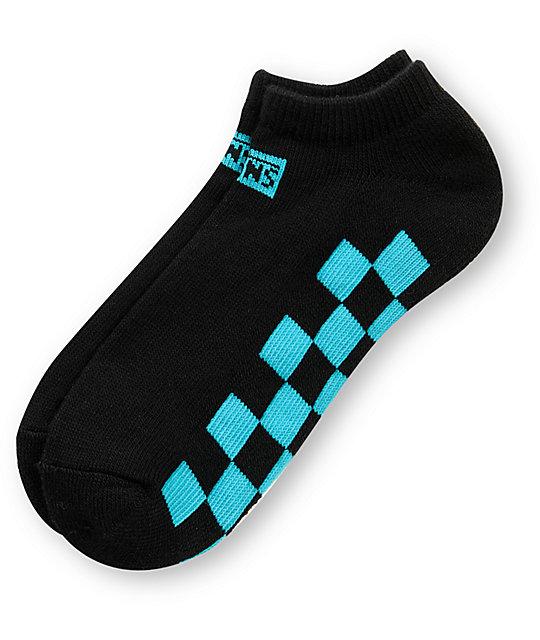 Vans Chex Black & Turquoise Ankle Socks