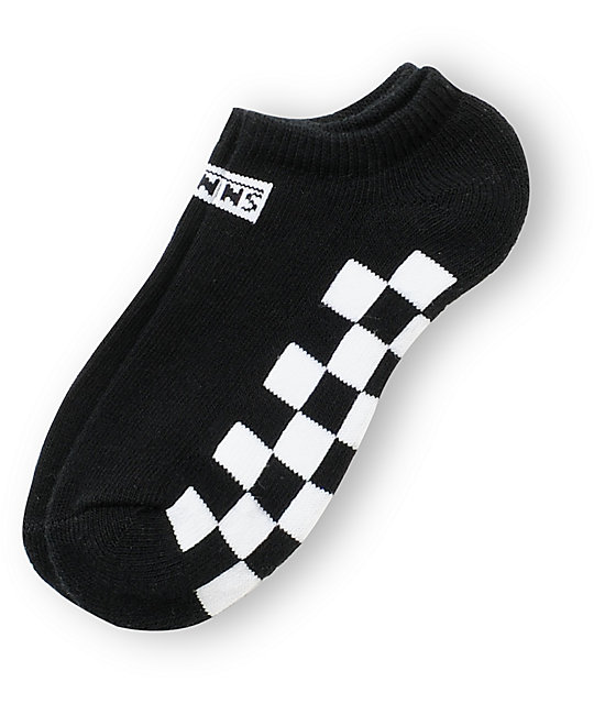 Vans Chex Black & White Ankle Socks