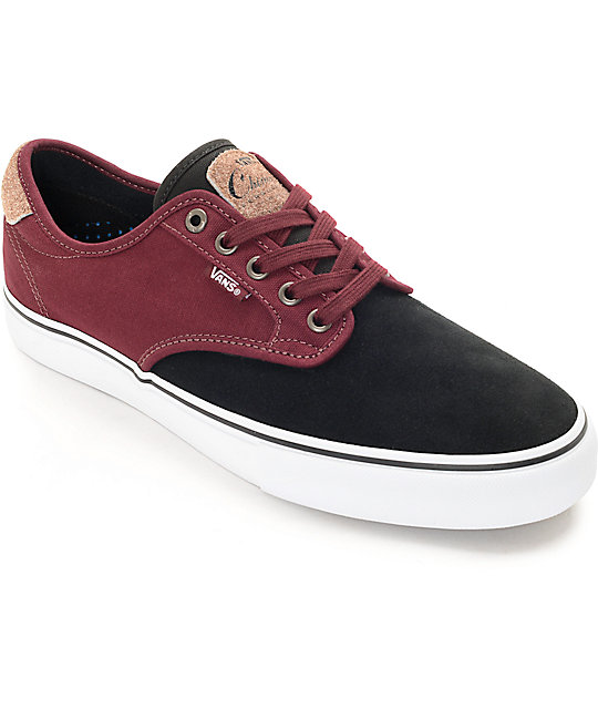 Vans Chima Black & Port Skate Shoes (Mens)