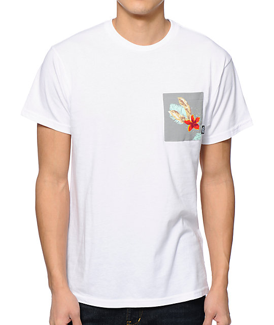 Vans Chima Print White Pocket T-Shirt