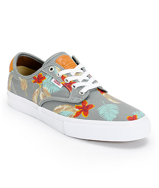 Vans Chima Pro Aloha & Grey Skate Shoes (Mens)