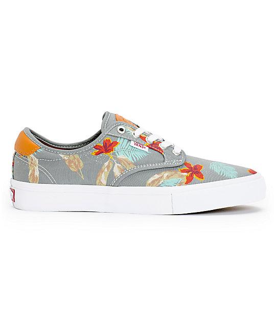 Vans Chima Pro Aloha Grey Skate Shoes