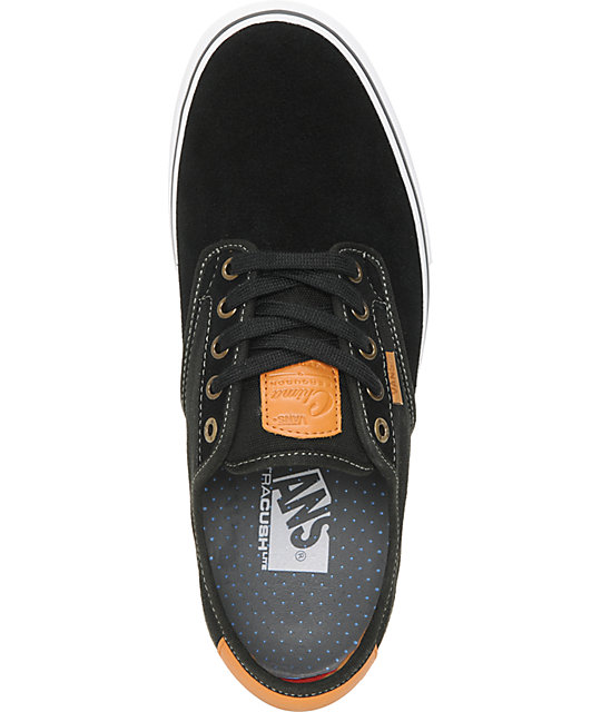Vans Chima Pro Black, White, & Tan Skate Shoes
