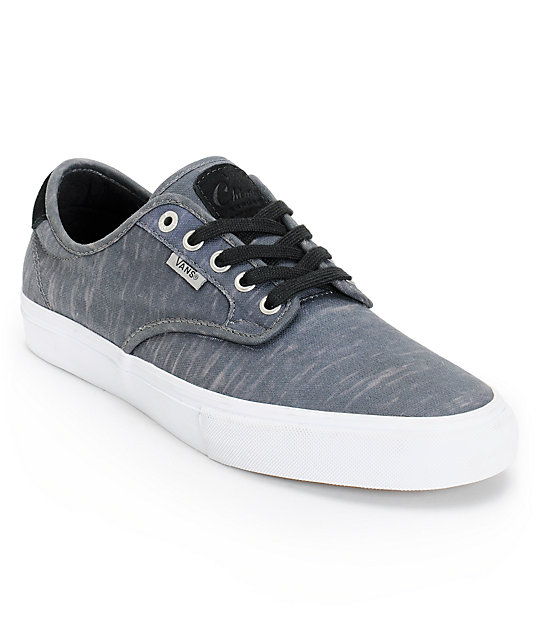 Vans Chima Pro Black Static Canvas Skate Shoes (Mens)